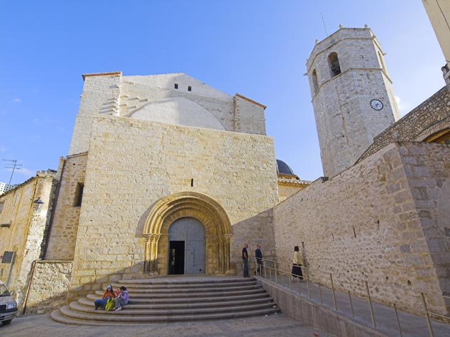 Vista exterior iglesia arciprestal, Sant Mateu